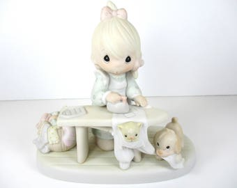 Vintage Precious Moments Press On Figurine - Precious Moments - Figurine- Enesco - Porcelain - Mother's Day Gift - Gift For Mom - Gift