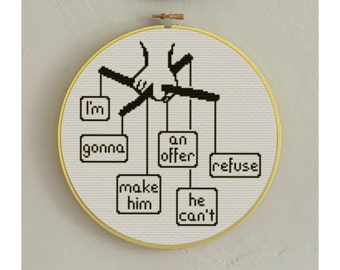 BUY 2 Patterns and GET 1 FREE -- The Godfather Crossstitch Pattern