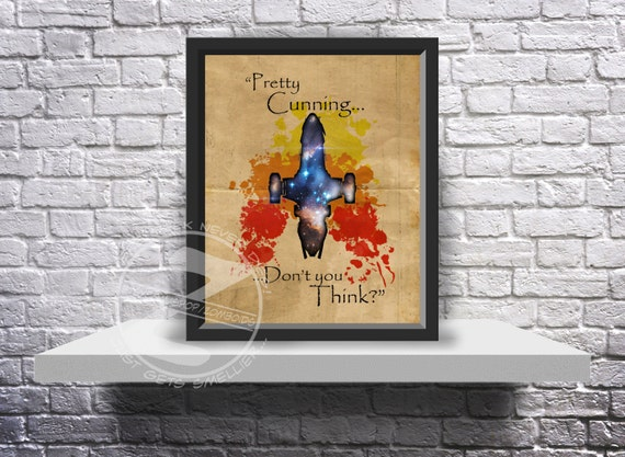 Custom Firefly Jayne Cobb Serenity print poster choose quote, and Size