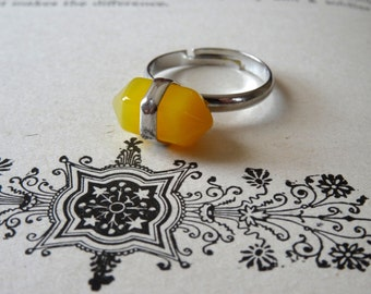 Citrine Gemstone Ring Adjustable