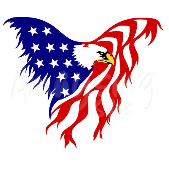 eagle flag svg patriotic svg 4th of july svg memorial day svg rh etsy com American Flag Waving Clip Art American Flag Clip Art Black and White