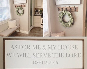 As For Me and My House We Will Serve the Lord | joshua 24:15 | Magnolia Market | Ready to Ship | 36x13