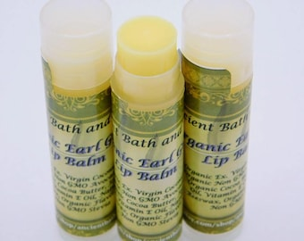 Organic Earl Grey Flavored Lip Balm / Chemical FREE / Cruelty FREE / Vegetarian
