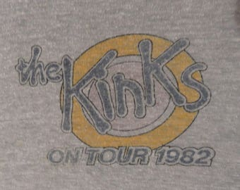 THE KINKS 1982 tour T SHIRT original vintage