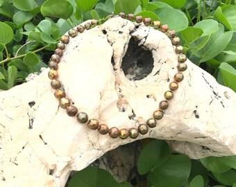 Bronze South Sea Pearl Necklace