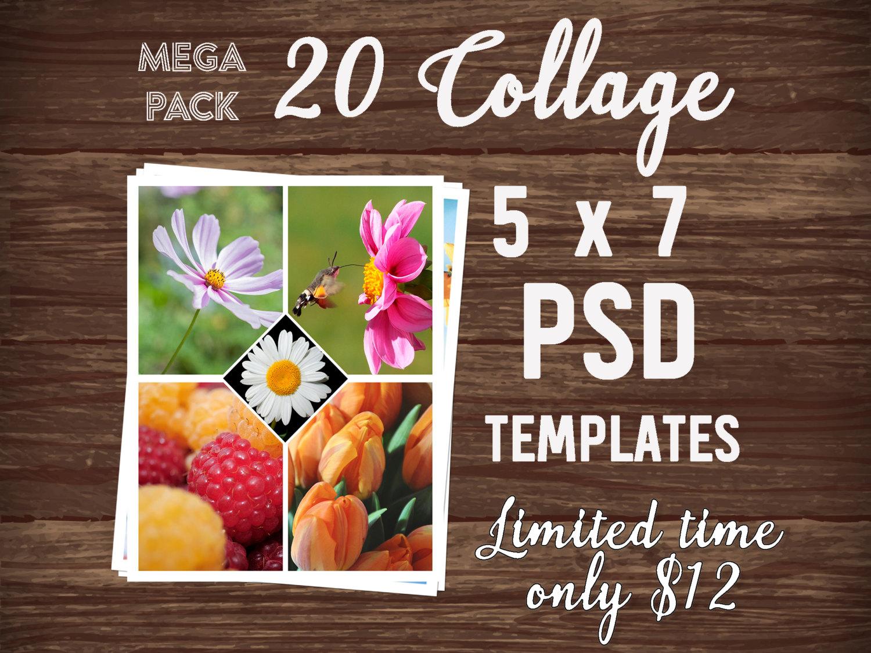 Mega Pack Photo Collage template Wedding Photo Album PSD