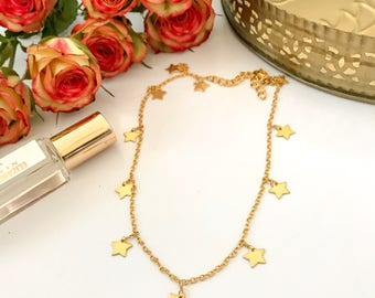 New! // Star Choker Necklace