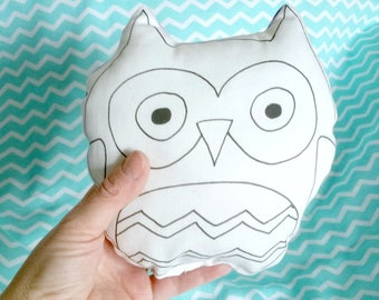 Soft plush owl-shaped pillow-stuffed owl animals-cotton owl toy-baby gift box-gift for baby girl or baby boy-Fluffy Owl