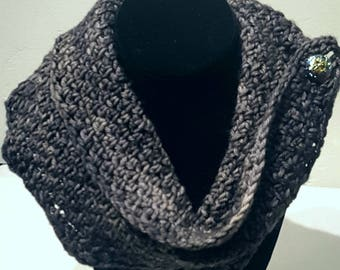 Free Shipping Scarf soft charcoal wool
