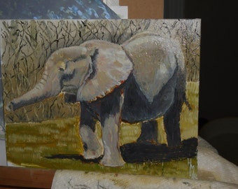 example oil painting elephant