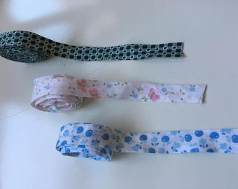 Cotton Bias, Fabric bias 1.5cm width per meter