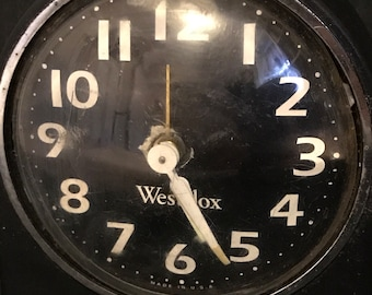 Vintage Alarm Clock by Westclox Retro Cottage Chic Farmhouse Funky It Works! SALE PRICE was 14.00 now 7.00
