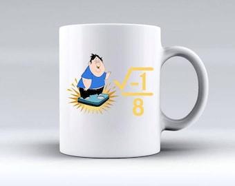 i over 8 I over ate Funny Math Teacher Mug