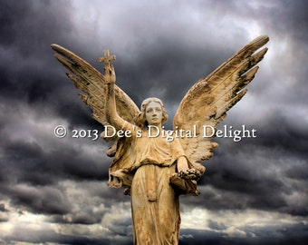 8x10 Storm Clouds Angel Photo Print