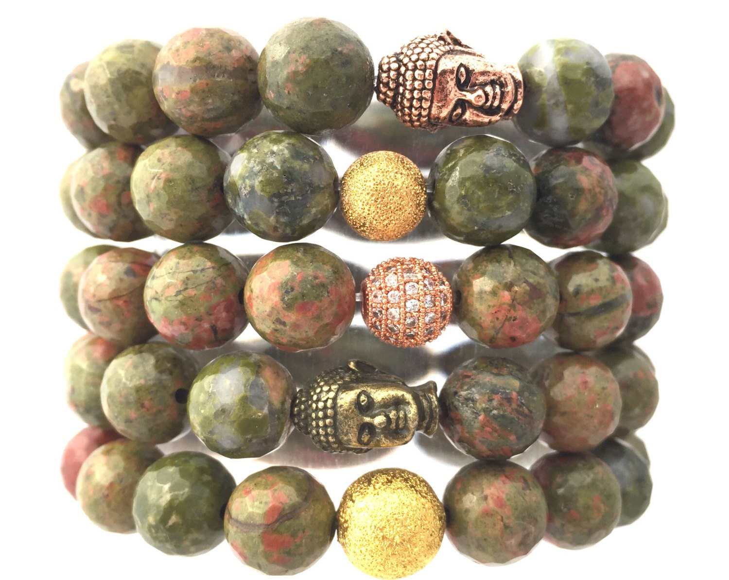 unakite of natural beads fullxfull gemstone strand about all listing round stone il