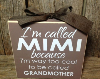 Mimi gift, personalized gift, grandmother gift, gift for grandmother, gifts for mimi, home decor, gifts for her, Christmas gift