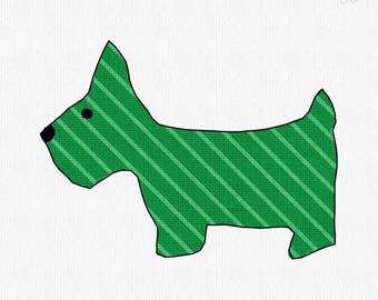 "Applique' Scottie Dog 4x4"" or 100x100mm Hoop"