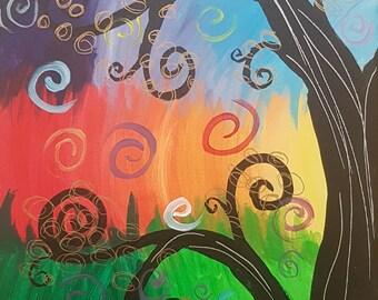 Quirky Rainbow Tree