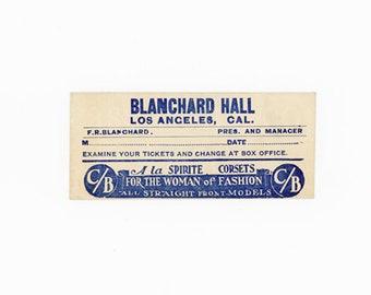 Small Vintage Ticket Envelope