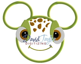Mickey Head - Finding Nemo - Squirt - Embroidery Machine Design - Applique - Instant Download - David Taylor Digitizing