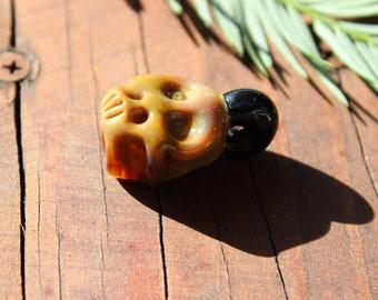 Glass Skull Pendant - Heady Necklace