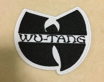 Wu Tang Clan Iron On Patch #White With Black