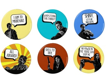 Firefly Badge/Magnet Collection - Serenity - Badge - Mal - Quotes -  Fridge Magnet -  TV - Sci Fi - Cult