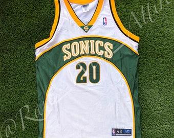 NBA Jersey Seattle Super Sonics Gary Payton Size 48 Reebok Authentic VTG Kemp