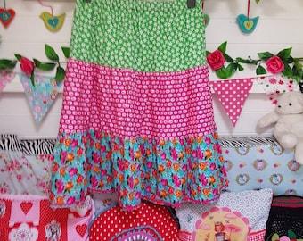 tiered skirt, boho skirt