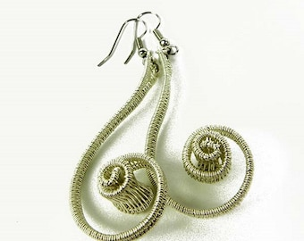 Deirdre woven earrings in sterling silver
