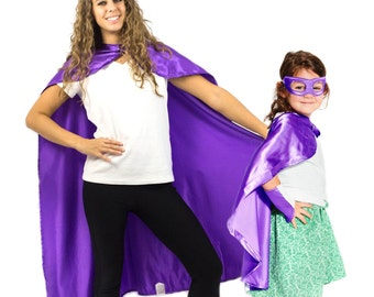 Purple Superhero Cape, Kids Superhero Cape, Adult Superhero Cape, Superhero Party Cape, Girls Cape