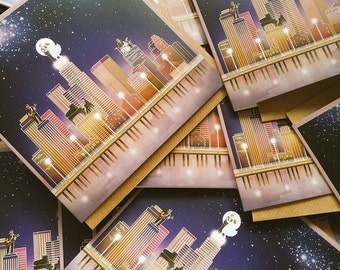 5x Greeting Cards (inspired by La La Land)