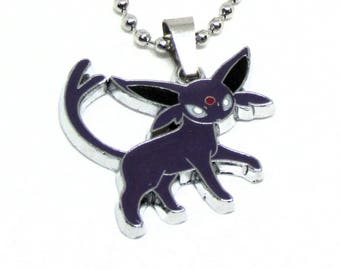 """Espeon Necklace 18"""" Stainless Steel Ball Chain"""