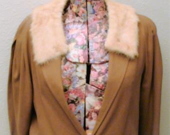 Vintage Mink Fur Collar-Blonde/Scarf/Wrap/Accessories