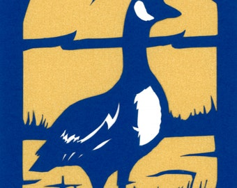 "Canada Goose 5x7"" Handcut Scherenschnitte Papercut, Bird Fine Art, Silhouette Home Decor, Paper Art, Wildlife Art, Papercraft Canadian Goose"