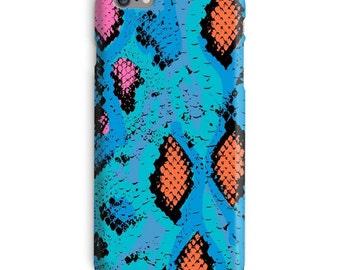Snake iPhone Case, Snake Skin iphone case, Blue iphone 6 case, Psy iphone 6 case, psychedellic iphone 6s case, rave iphone case
