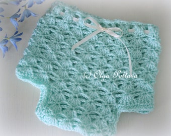 Shells and Chains Diaper Cover Crochet Pattern, Baby Diaper Cover 0-3 Months, Easy Crochet Pattern
