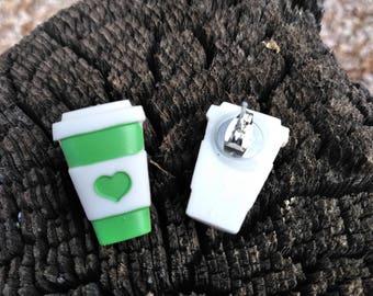 My Heart Belongs to Coffee Stud Earrings