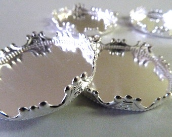 Silver Plated Pendant Tray Cabochon
