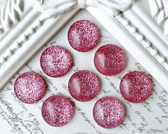 Pink Glitter Magnet or Pushpins, Very Strong Magnets, Pink Glitter Pushpins, Pink Magnets, Glitter Magnets, Decorative Magnets, Wedding Favo