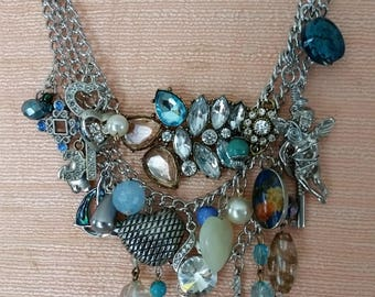 Singing the Blues - Upcycled Necklace