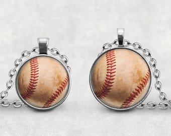 Vintage Baseball Mom Necklace, Baseball Pendant Jewelry, Baseball Mom Gift, Baseball Coach Gift, Baseball Pendant, Baseball Keychain