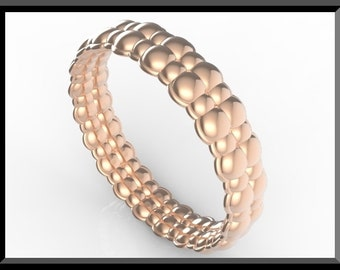 Rose Gold Bubble Wedding Band-Unique Design!Sale!Womens Wedding Band,Rose Gold Wedding Band