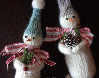 Wooly Snowman Knitting Pattern Quick Knit!