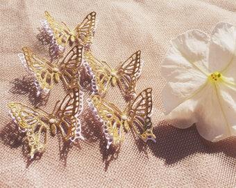 30 pcs. Glitter Gold Butterflies/ Paper Butterflies/ Butterflies DIE CUT/ Confetti/Butterflies for scrapbooking/ Party décor/Wedding décor/