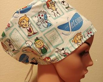 Women's Surgical Cap, Scrub Hat, Chemo Cap, Jetson's