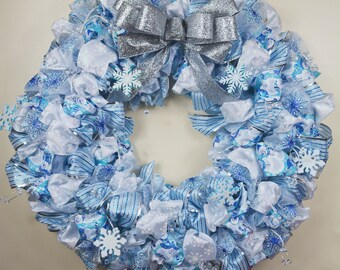 Winter Wonderland Ribbon Wreath