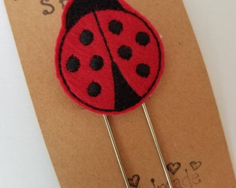 Ladybug Jumbo Bookmark - XL - Planner Clip - Planner Accessory -  Small Gift