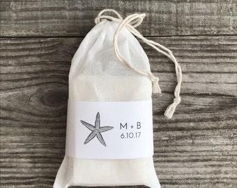 Handmade Custom Full Size Soap Favors, Wedding favors, shower favors, Natural soap, Organic, full size soap bars, muslin bag, custom label