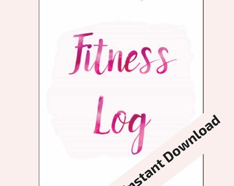 """Fitness Log 5.5""""x8.5"""" Midori/Traveler's Notebook Inserts Printable. INSTANT DOWNLOAD"""
